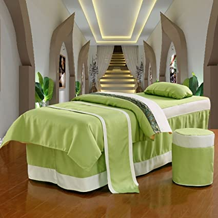 Beauty Bed Linen Super Soft Beauty Bed Sheets Massage Spa Bed Linen 4  Pieces Set/