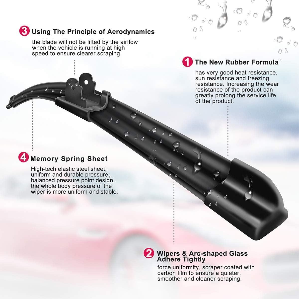 19 Winter Summer Bracketless Beam Wiper U J hook Beam Wiper Blades Model AutopartsMaster Windshield wiper blades 26 set of 2 19M28-2