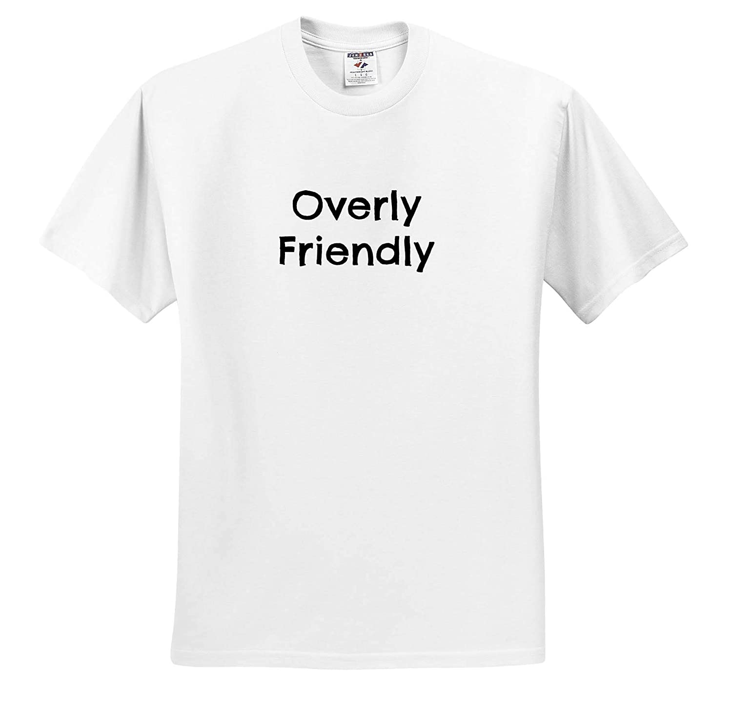 Image of Quote Overly Friendly 3dRose Carrie Quote Image Adult T-Shirt XL ts/_320214