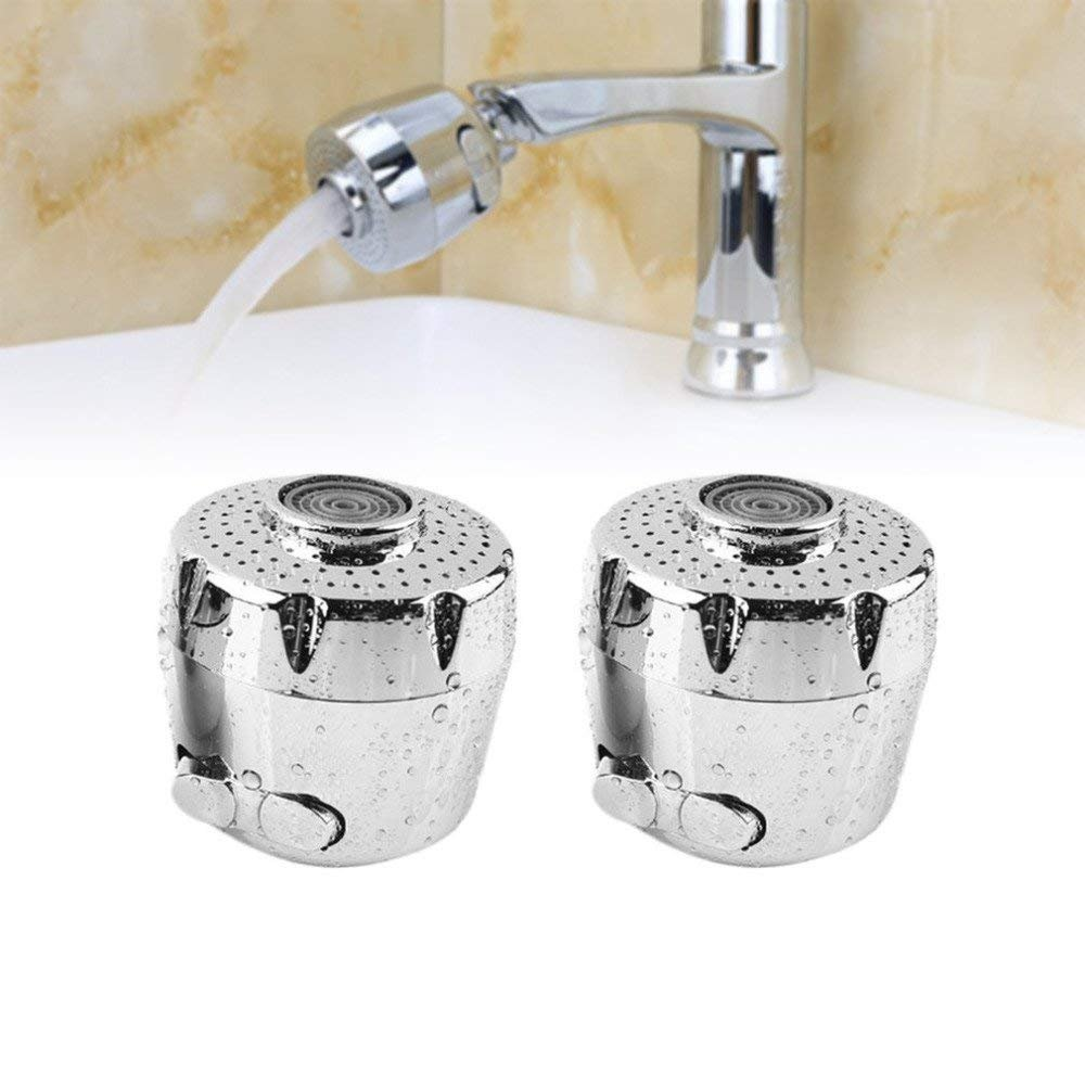 Winnerbe 2pcs Kitchen Faucet Aerator Water Saving Device Two Water Mode Splash-proof Filter for Home Hotel