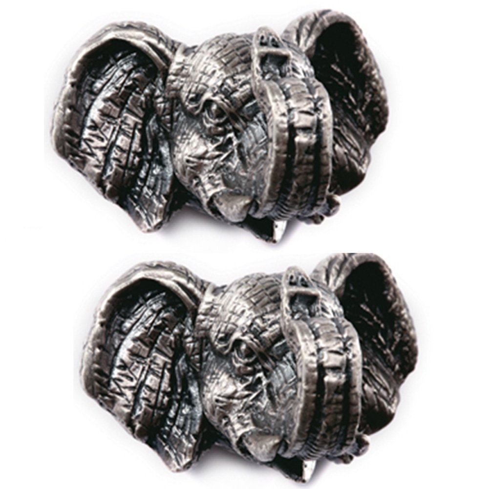 A.B Crew Pack of 2 Vintage Style Tin-lead Alloy Animal Cabinet Cupboard Drawer Knob(Elephant,Screw Length: 5cm/1.97'')