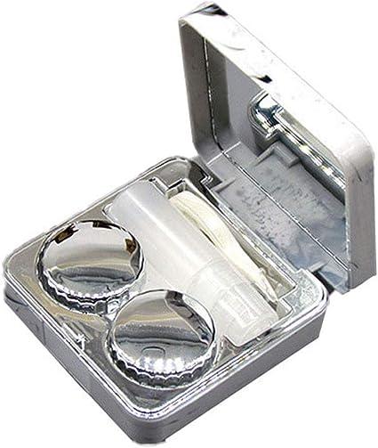 Drawihi Mini Caja Portatil Viaje Gafas Y Lentillas Elegante para Mármol Cuadrado Lentes De Contacto Tamano De Bolsillo(Plata): Amazon.es: Coche y moto