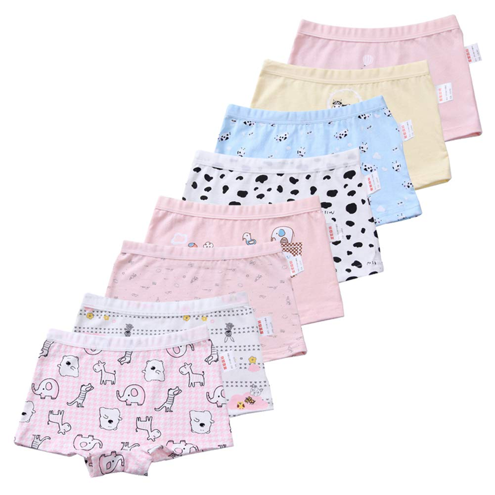 EMMARR Toddler Bloomers Baby Girls' Cotton Underwear Briefs 4-Pack Panties