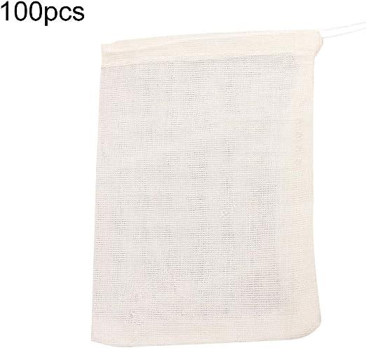 uyhghjhb 10/50/100 Bolsas de Sopa de algodón vacías de 10 x 15 cm ...