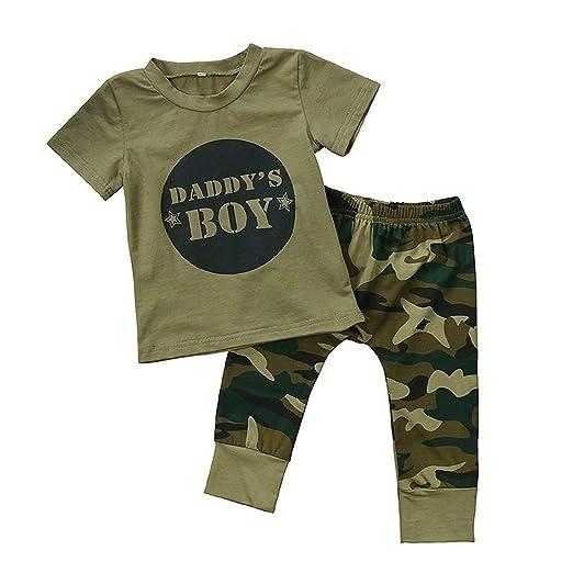 ff4f1dca942 GRNSHTS Baby Kids Family Matching Clothes Set Camouflage Short Sleeve  T-Shirt Tops Long Pants