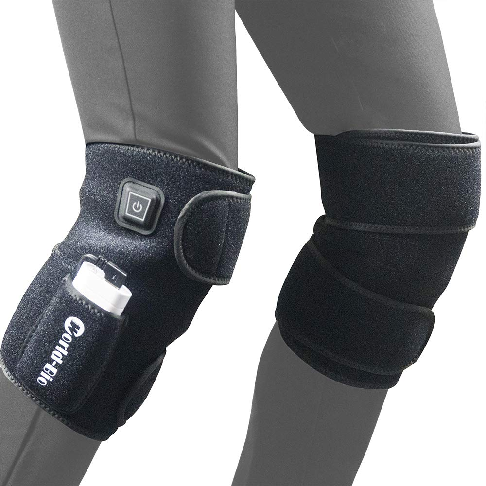 1 Pair Heated Knee Brace Wrap Support, Full-SizeElectric Knee Heating Pad Therapy Hot Compress for Arthritis, Meniscus, Joint Pain Relief Recovery, 3 Temperature Control Fits Knee Calf Leg Arm(2 PCS) by MR.ICE