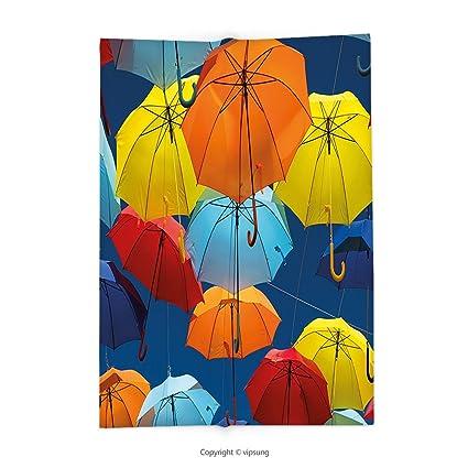 Manta de Custom printed con apartamento decoración paraguas colores el cielo tradicionales Portugal Festive cultura europea