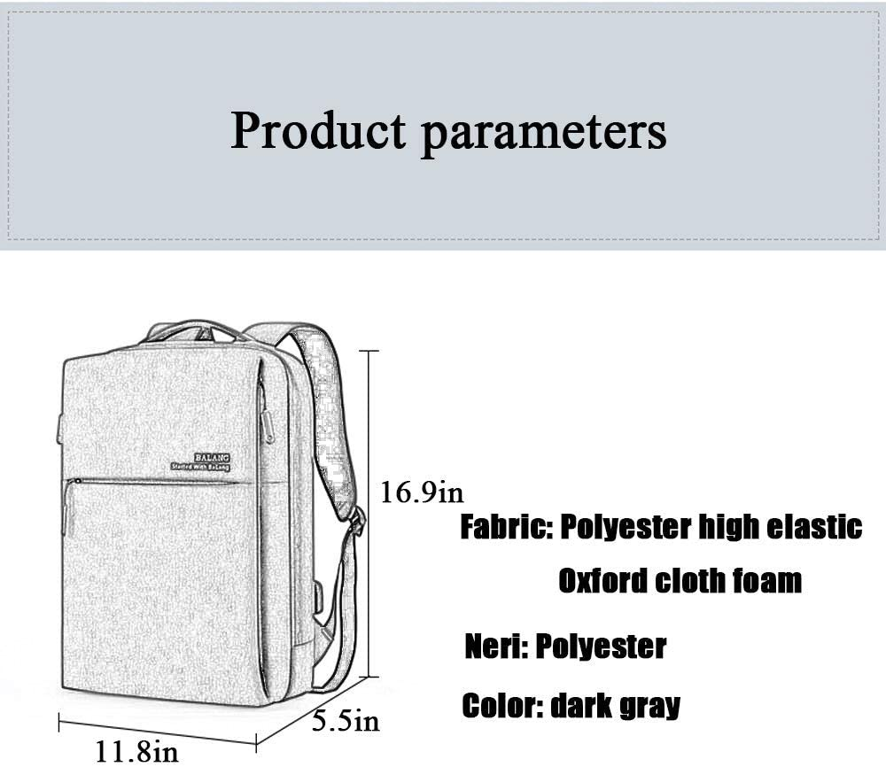 DEI QI Business Notebook Backpack Computer Backpack Bag MacBook Large Capacity Travel Clothing Oxford Fabric Casual Simple Fashion Books Luggage School Backpack Polyester USB Charging Waterproof Light
