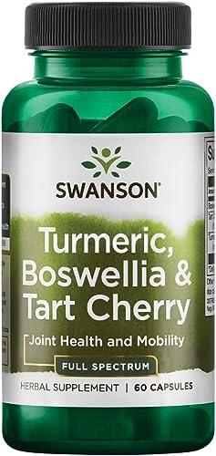 Swanson Full Spectrum Turmeric Boswellia Tart Cherry 60 Capsules