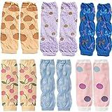 KF Baby 6pc Soft Thin Summer Knee Pads Socks Sleeve Leg Warmers Gift Value Pack