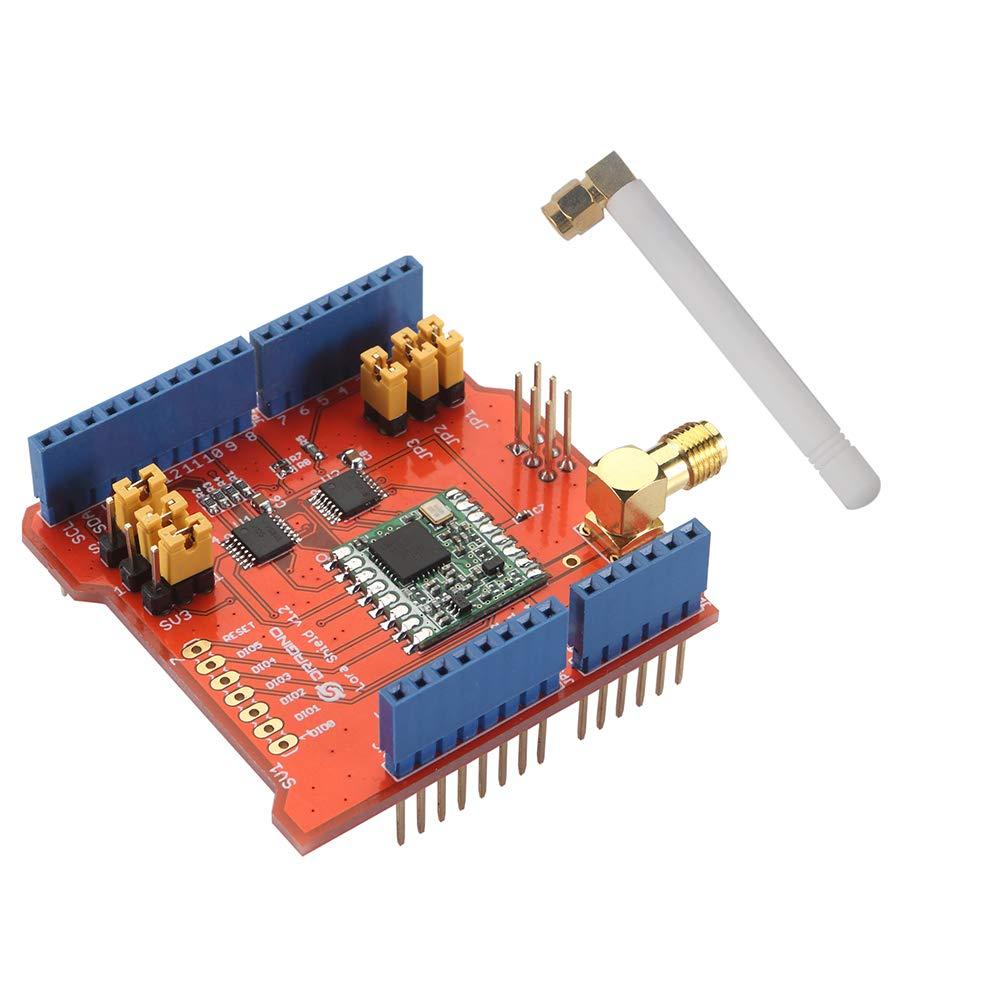 Dragino Lora Shield 915Mhz, RFM95W Wiless, Compatible with Arduino UNO Mega  2560 Leonardo Due, 3 3V or 5V Low Power Consumption, Antenna IPEX