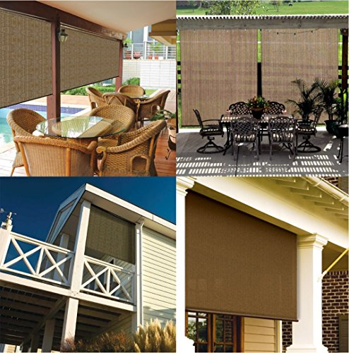 Coolaroo Outback Exterior Roller Shade Cordless Roller Shade With 90 Uv Protection 4 39 X 6