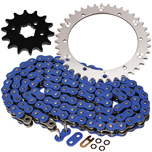 Caltric O-Ring Blue Drive Chain & Sprockets Kit Fits YAMAHA BANSHEE 350 YFZ350 YFZ-350 ()