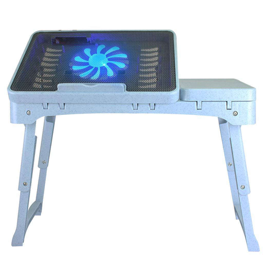 NJ 折りたたみ式テーブル- 多機能折り畳み式机のコンピュータデスク、家庭用ドミトリーベッド用のシンプルな小さなテーブル (色 : 青, サイズ さいず : 53x27.5x37.5cm) 53x27.5x37.5cm 青 B07M9X2P9T