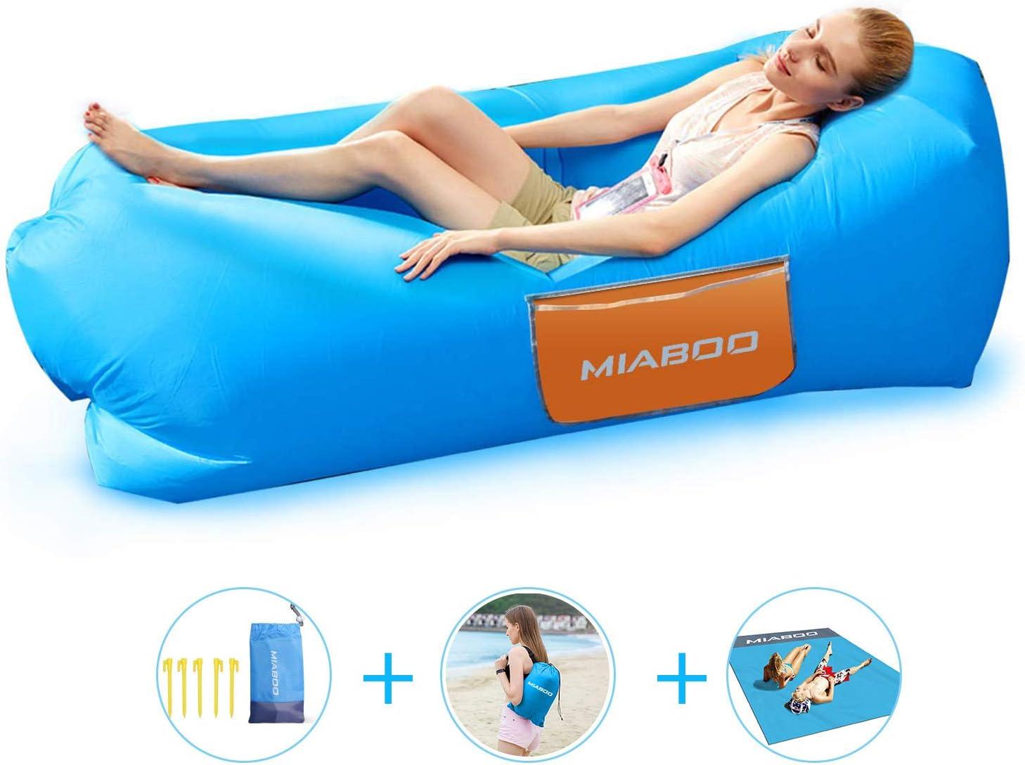 Amazon.com : MIABOO Inflatable Lounger Air Sofa, Waterproof ...