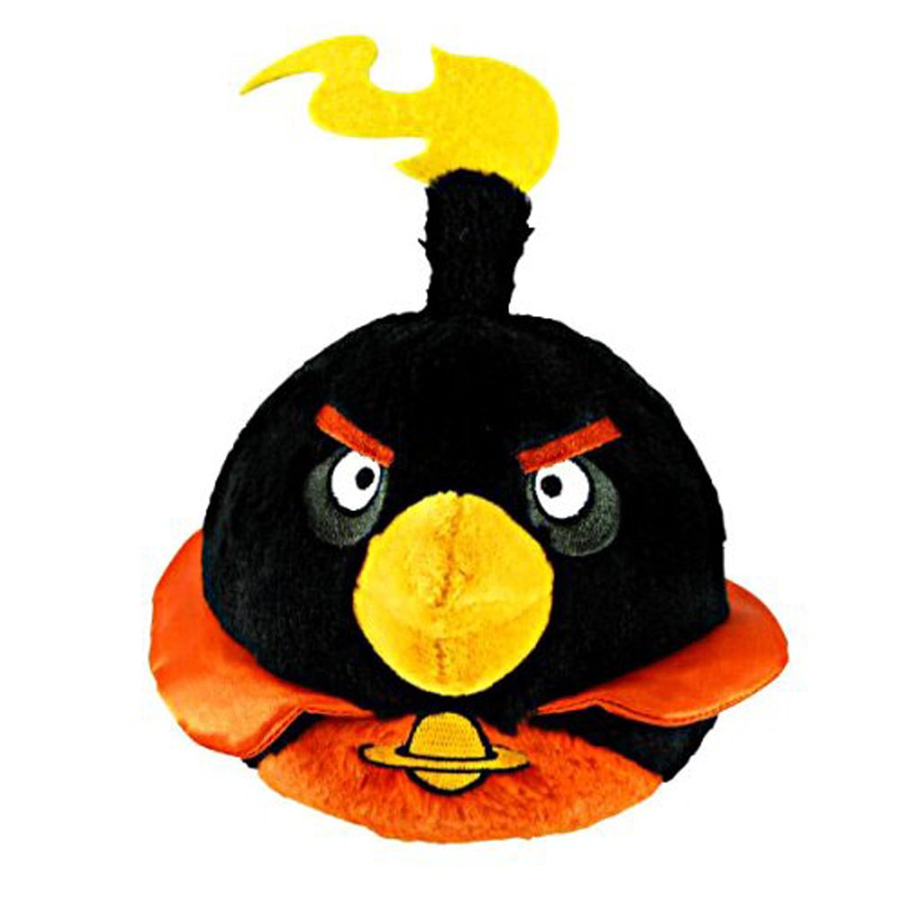 amazon com angry birds space 5 inch black bird with sound toys games