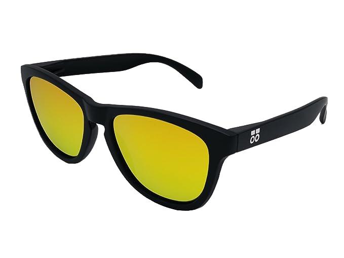 Gafas de Sol Polarizadas Hombre y Mujer Sport - Lentes Dorado espejo 1.1 mm - Diseño