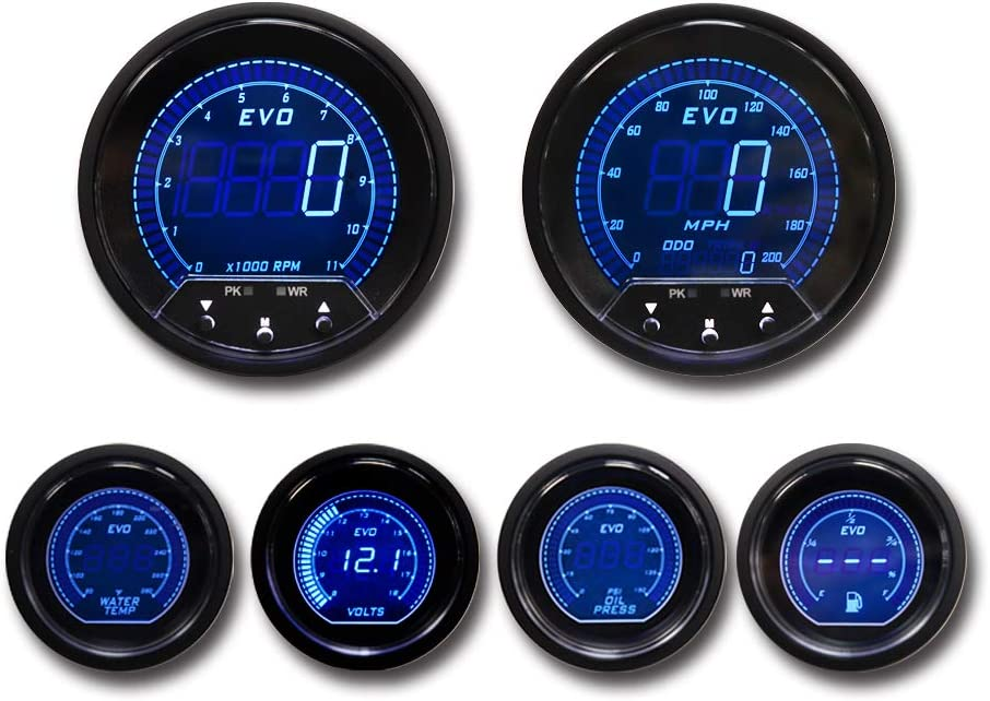 MOTOR METER RACING W Pro Series 6 Gauge Set GPS Speedometer