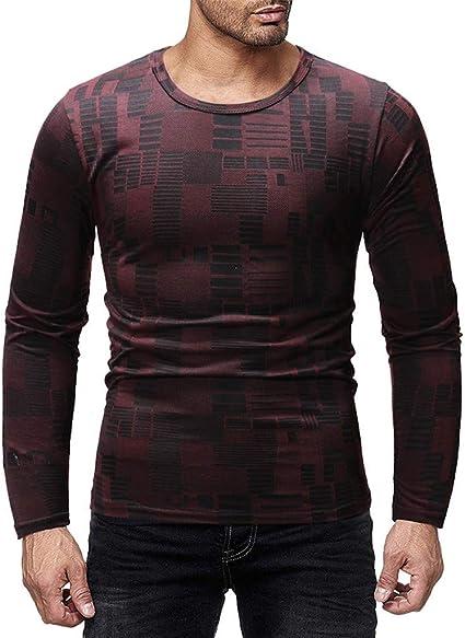 ZODOF camisa hombre camisas sport Casual Pure Color estampadas algodon manga larga Shirts Tops Slim Fit Camisas Blusa Tops Moda para hombre camisa hombre verano(XL,rojo): Amazon.es: Instrumentos musicales