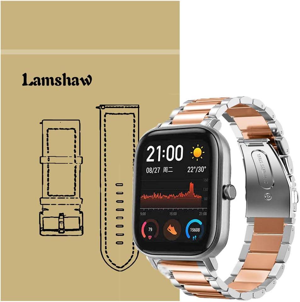 Ceston Metalica Acero Clásico Correas para Smartwatch Amazfit GTS ...