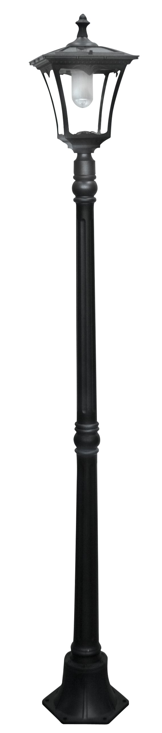 Paradise GL23716BK Cast-Aluminum Solar-Powered LED Streetlight-Style Outdoor Light by Paradise