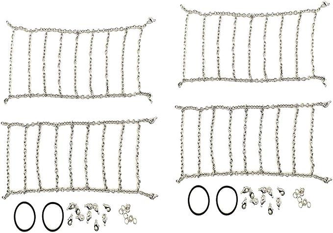 sharprepublic 2 Pedazos Cadenas para Nieve Universales para Llantas para Ancho de Llantas de 105-110 mm
