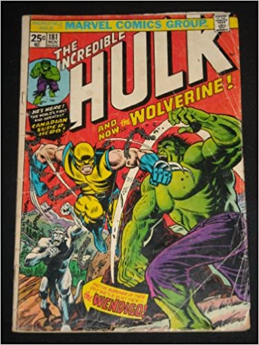 INCREDIBLE HULK #181 1ST APPEARANCE OF WOLVERINE KEY 1974