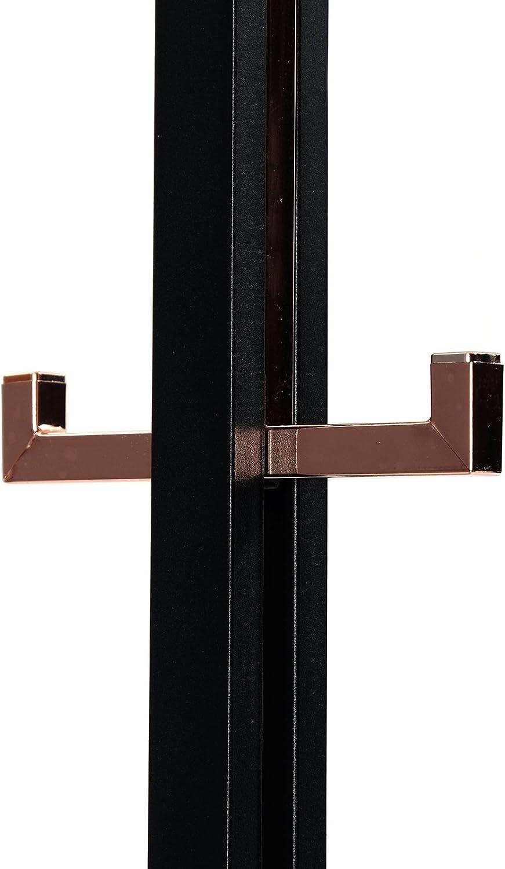 Support de v/êtements DESIGN DELIGHTS GARDEROBE MODERNE porte-manteau Noir//cuivr/é en Acier 177,8 cm