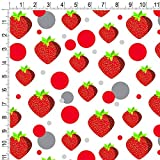 Premium Gift Wrap Wrapping Paper Roll Pattern - Food Drink Bacon Coffee - Strawberry