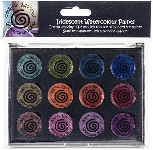 Creative Expressions CSIWPST6 Cosmic Shimmer Iridescent Watercolor Palette Set 6, Summer - Garden Cosmic