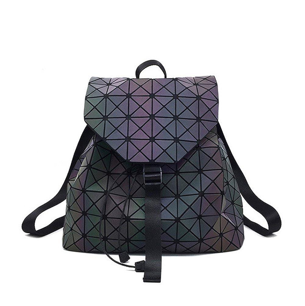 Magibag Lattice Geometric Backpack Holographic Rucksack School Bag Pack Teenager girl