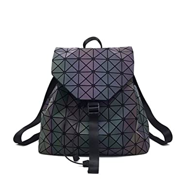 a633068af2 Magibag Lattice Geometric Backpack Holographic Rucksack School Bag Pack  Teenager girl
