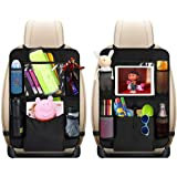 """Car Back Seat Organizer Kids - Car Organizers Covers Protectors with 10"""" Touch Screen Tablet Holder Large Storage Pockets Kic"""