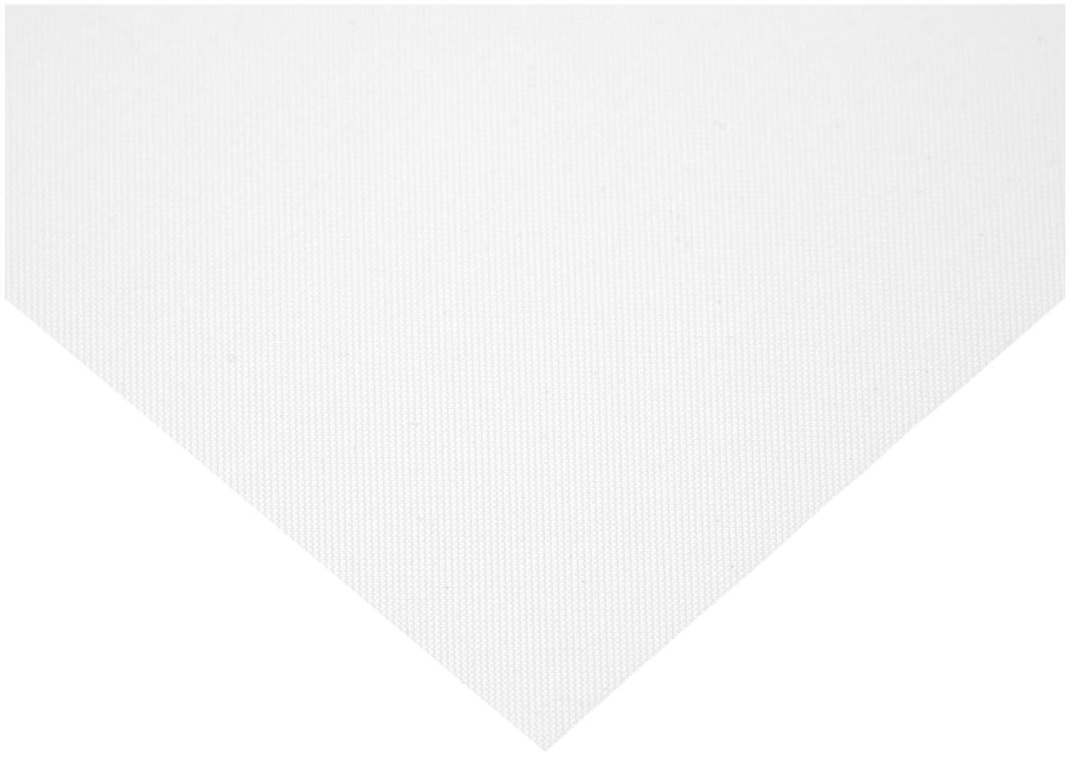 Polyester Mesh Sheet, Opaque Off-White, 12'' Width, 24'' Length, 40 microns Mesh Size, 25% Open Area (Pack of 1)