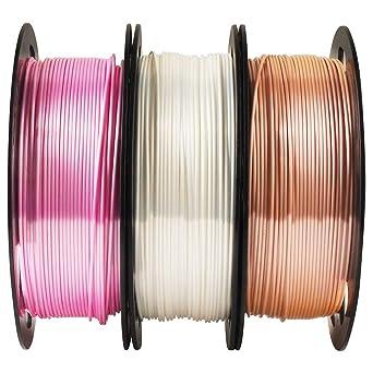 MIKA3D Paquete de filamento PLA para impresora 3D en color rosa ...