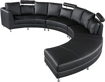 Amazon.com: Velago Rossini Black Modern Design Circular ...