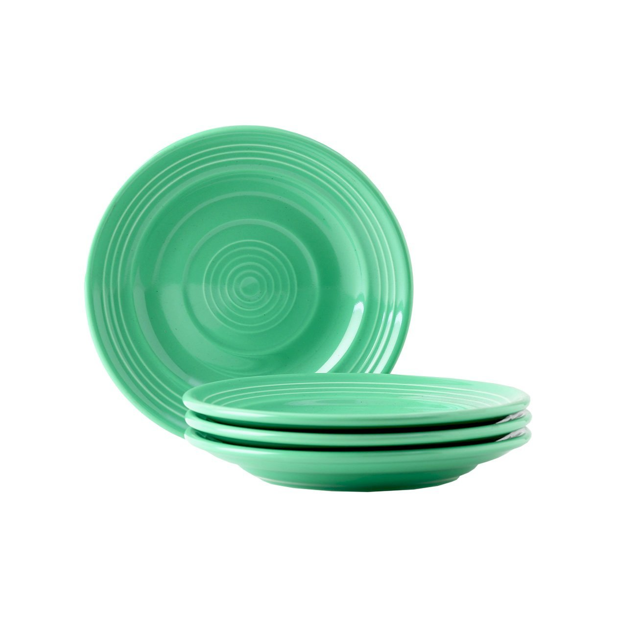 Tuxton Home Concentrix Side Plate (Set of 4), 6 1/4, Cilantro Green; Heavy Duty; Chip Resistant; Lead and Cadmium Free; Freezer to Oven Safe up to 500F