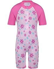 TFJH Girls Onepiece Swimsuit 4-5 Years UPF 50+ UV Pink