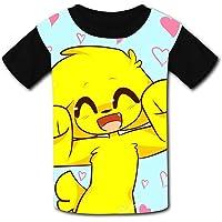 MiKec-Rack - Camiseta de Manga Corta para niños y niñas con Estampado 3D, Camisetas de Moda