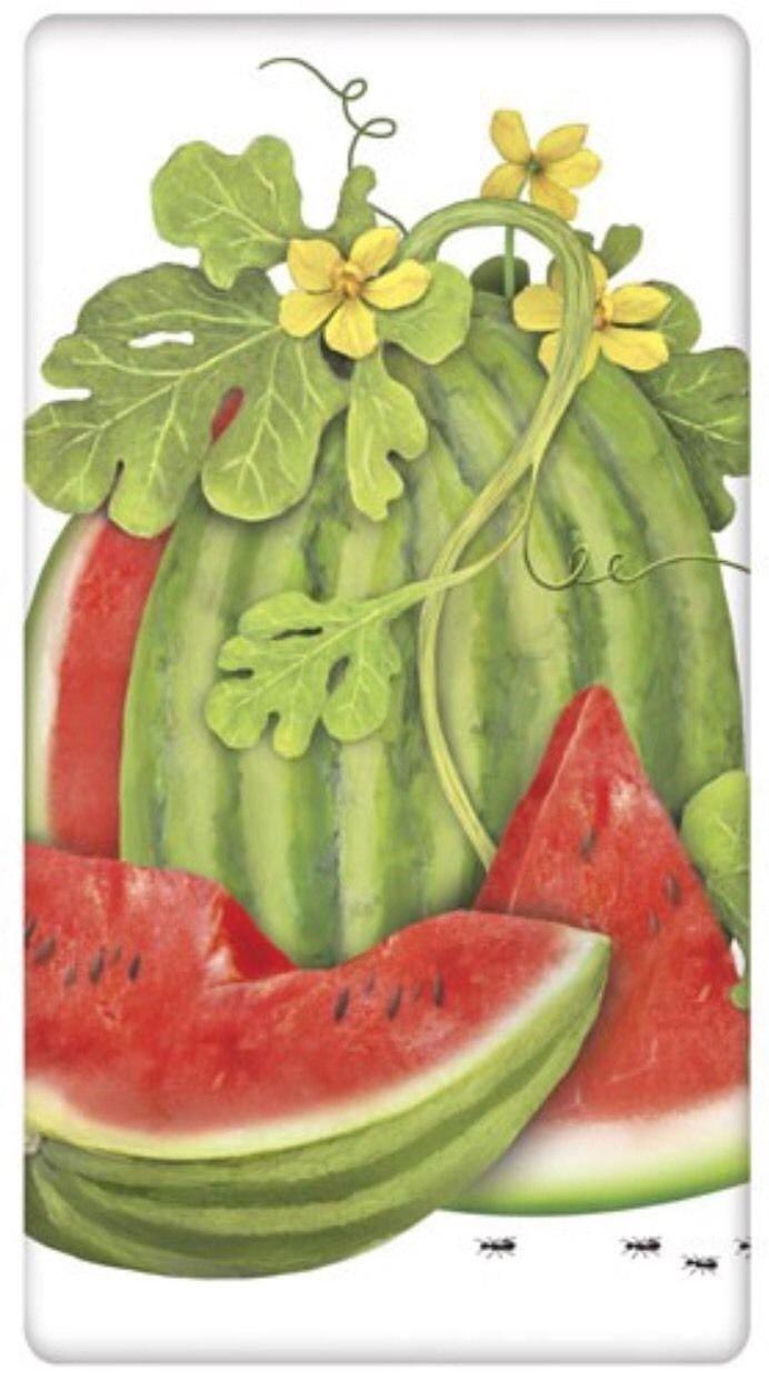 Mary Lake Thompson Watermelon Vine Flour Sack Towel BT1112 30 Inches Square