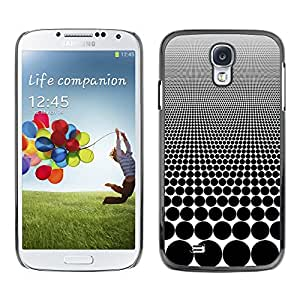 LASTONE PHONE CASE / Carcasa Funda Prima Delgada SLIM Casa Carcasa Funda Case Bandera Cover Armor Shell para Samsung Galaxy S4 I9500 / Cool Optical Visual Illusion Pattern Black Spots