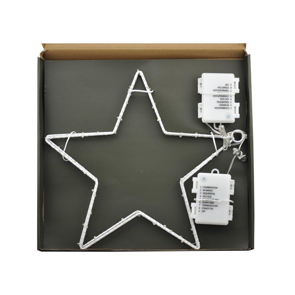CMYK/® 2 St/ück LED Weihnachtsstern Beleuchtung mit 40 warmwei/ßen LEDs batteriebetrieben