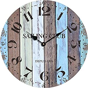 61xLL57%2BeFL._SS300_ Coastal Wall Clocks & Beach Wall Clocks