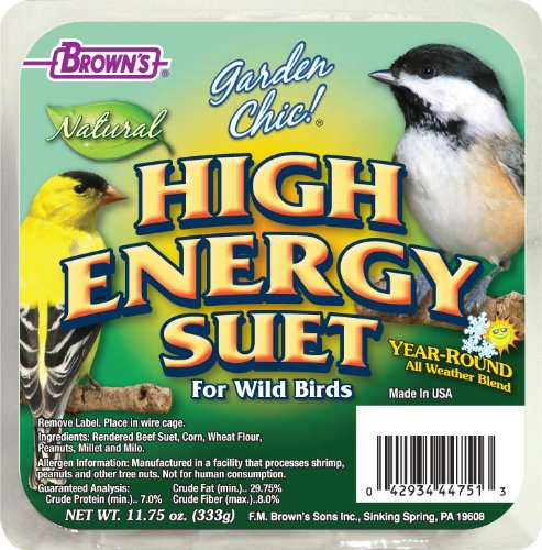 (F.M. Brown's, Garden Chic Suet and Bread Cakes, 11-3/4-Ounce Hi Energy Plus Apple)
