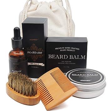 Beard Grooming Kit For Men - Beard Oil, Beard Balm, Beard Comb, Beard Brush  - Genkent Natural Beard kit,