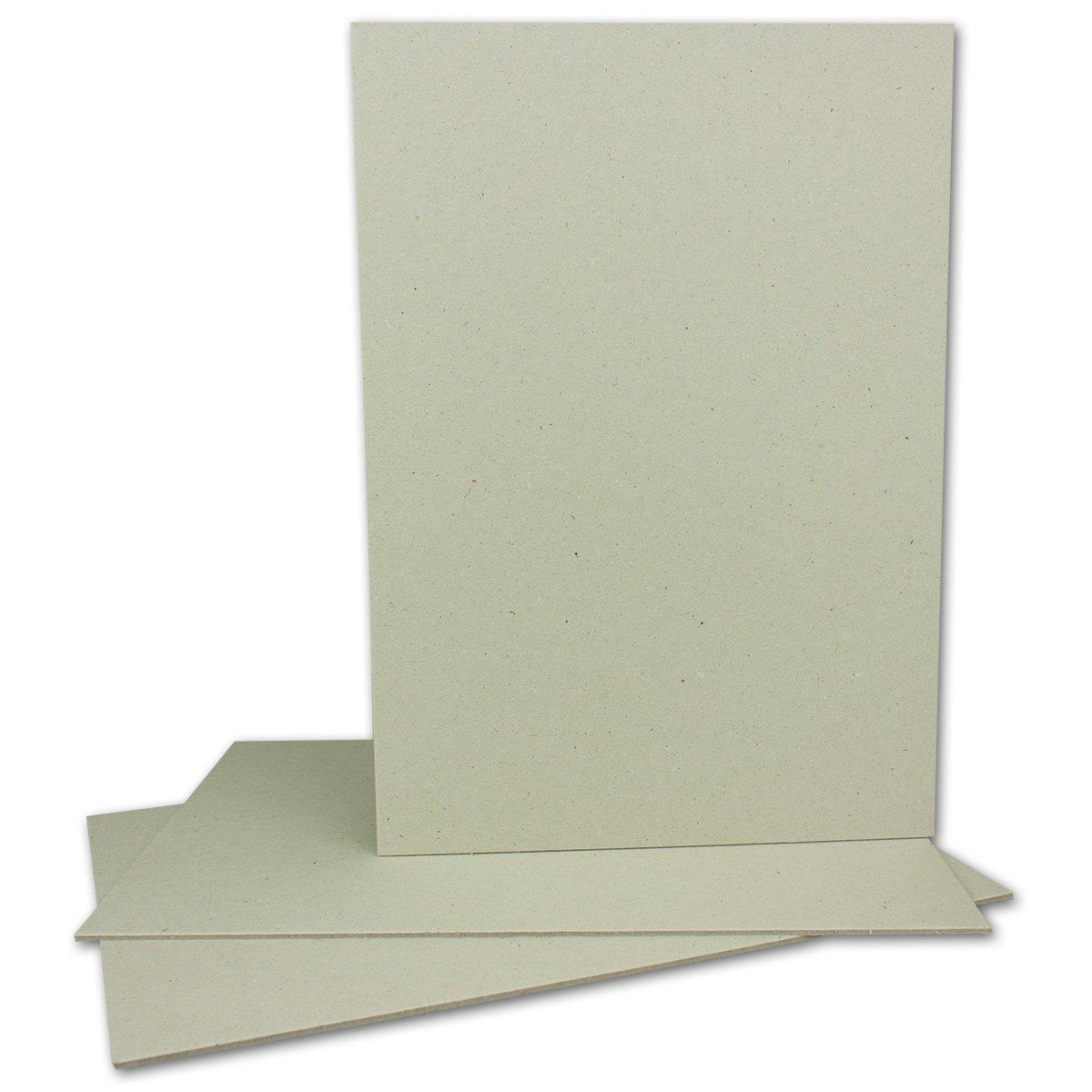 100 Stück Buchbinderpappe DIN A4   Stärke 2,0 mm   Grammatur  1230 g m²   Format  29,7 x 21,0 cm   Farbe  Grau-Braun   100 Stück B074NXP7JY | Erste in seiner Klasse