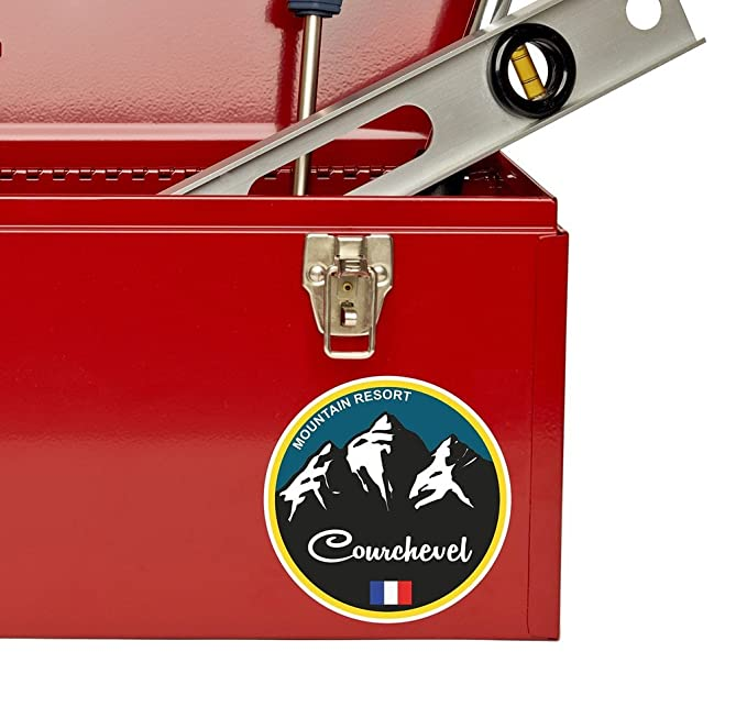 2 x Courchevel Ski Snowboard Vinyl Sticker Laptop Travel Luggage Car #5336