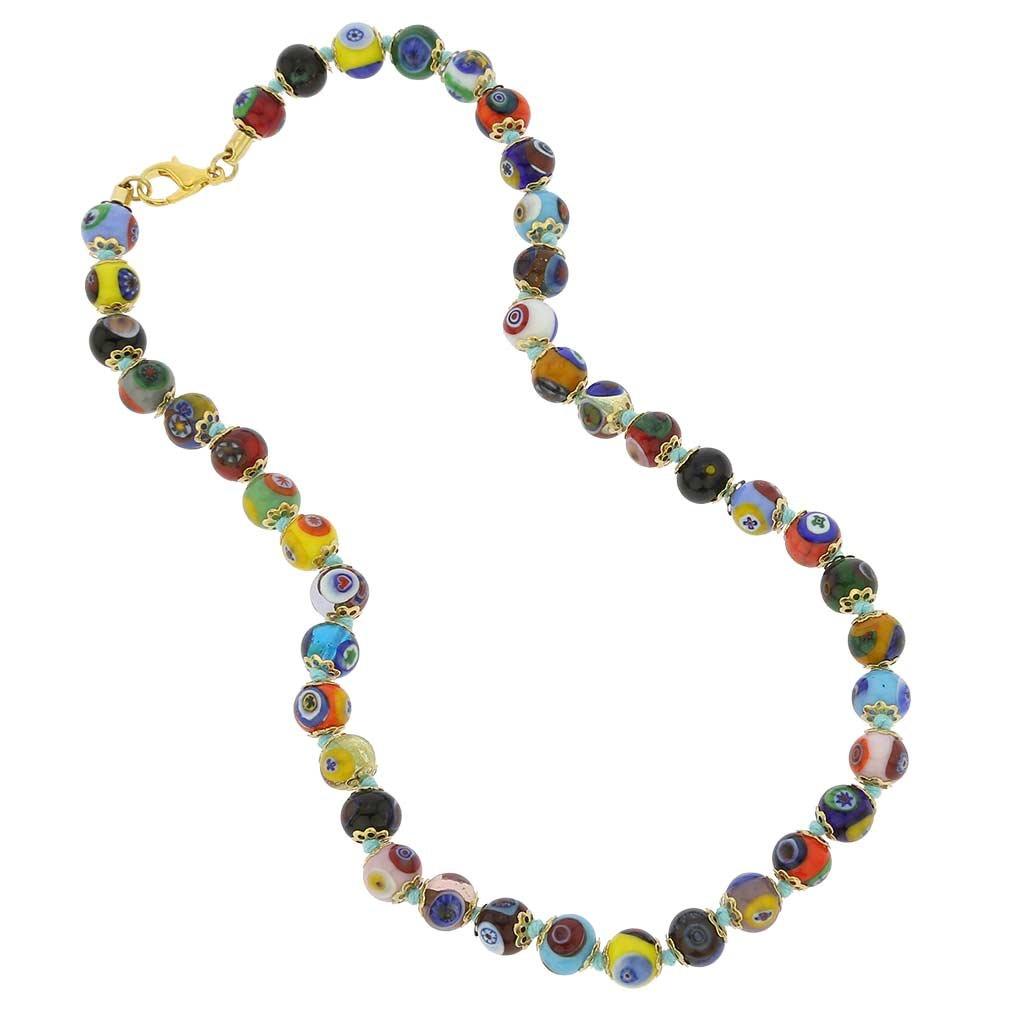 GlassOfVenice Murano Glass Mosaic Necklace - Multicolor