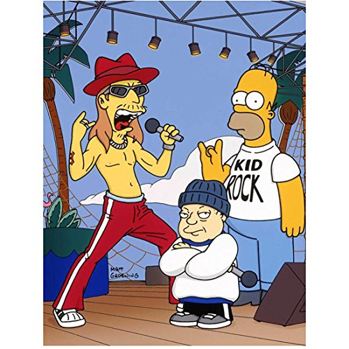 Homer Rocks (The Simpsons (TV Series 1989 - ) 8 Inch x 10 Inch PHOTOGRAPH Homer & Kid Rock kn)