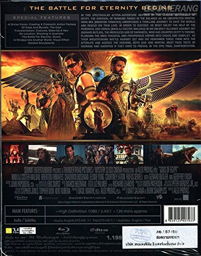 Gods of Egypt (Blu-ray 3D) (2D Compatible Version Feature can be viewed in 2D or 3D) Brand New Factory Sealed